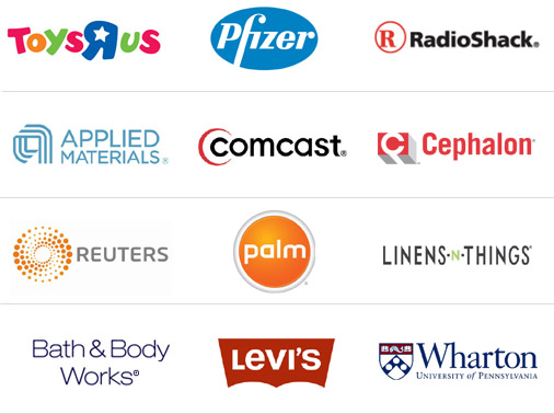ToysRUs, Pfizer, RadioShack, Applied Materials, Comcast, Cephalon, Reuters, Palm, Linens-n-things, Bath & Body Works, Levis, Wharton